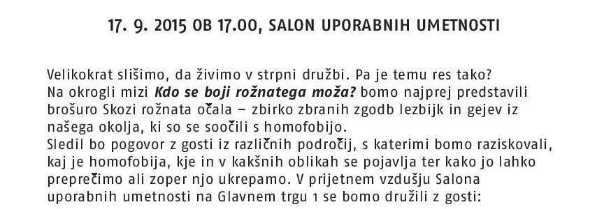 Maribor skozi rožnata očala